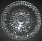 Kromex Lazy Susan Hostess Glass Serving Tray Relish Divided 5-Part 11 7/8