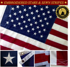 2x3 FT American Flag USA US US Embroidered Stars Premium Oxford Nylon