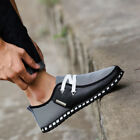 Mens Casual Driving Sneakers Trainers Loafers Breathable Lace Up Canvas Shoes