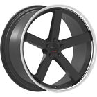 22x95 Black Chrome Giovanna Mecca FF Wheels 5x112 +30 Fits Audi A8 Quattro