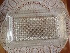 Vintage INDIANA Clear Glass Rectangle Diamond Point Relish Dish Vanity Tray VGC