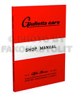 1954-1963 Alfa Romeo Giulietta Shop Manual with Specifications Book too Repair