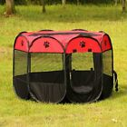Portable Folding Pet Tent Playpen Dog Fence Puppy Kennel Easy Operation Folding