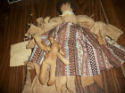 HAND MADE PRIMITIVE RAG DOLL AND HER BUNNY  REBEL MADE IN MAINE ME