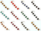New Free Shipping Lot 10Pcs Mix Gemstone Braeclet 925 Silver Overlay Jewelry