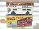 Lesney Matchbox MB17B 1972 The Londoner Cream + Brown IMPEL 76 Bus Mint Boxed