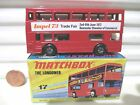 Lesney Matchbox MB17B 1973 The Londoner Red IMPEL 73 Bus Black Base Mint Boxed