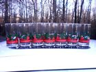 (7) VINTAGE LIBBEY CHRISTMAS  HOLLY AND BERRIES RED BAND GLASSES 5'' TUMBLERS