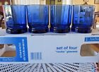 4 Anchor Hocking Cobalt Blue Essex Rock Old Fashioned Glasses New In Box