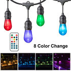 Outdoor String Lights for Patio Vintage 48ft Weartherproof LED party Light Bulbs