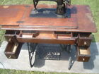 Cast Iron Cabinet/Table~Vtg Singer Foot Treadle Sewing Machine~Collector