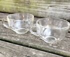 pair of HAZEL-ATLAS pressed glass ORCHARD clear SNACK punch CUP glassware