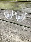 pair of FEDERAL GLASS pressed clear SNACK punch CUP glassware