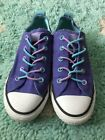 Converse All Star Lo Shoe Youth Kids Purple School Sz 1 Sneaker Girl Aqua Bungee