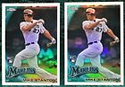 2010 Topps Chrome Refractor #190 Mike Giancarlo Stanton Rookie RC Lot of 2