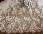 Ivory Chantilly French Eyelash Lace Fabric Diy Wedding Bridal Dress 59y Veil