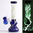 luminous Bong Glass Hookahs Glow In The Dark Glass Water Pipes wi