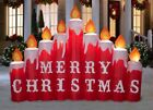 Pre order 9 Ft CANDLES W MERRY CHRISTMAS SIGN Airblown Lighted Yard Inflatable