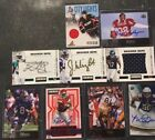 Lot Of 10 Signed And Jersey NFL Trading Cards Upper Deck Pinnacle Grid Iron