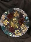 Vintage Large Art Glass Plate Charger 185 In AcrossLabeled Sand Ash