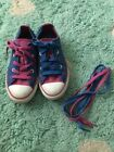 Converse All Star Lo Shoe Youth Kids Royal Blue School Sz 13 Sneaker Girl Fucia
