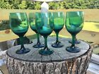 Stemmed Water Glasses/ Wine Goblets -Set 6- Green / 7