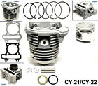 GY6 50cc Cylinder  Head 39mm Piston Gasket Kit For ATV Gokart Moped Scooter E1