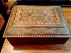 SMALL VERY OLD TUNBRIDGE INLAID DRESSER BOX, 90% INTACT, BUT WITH NO HINGES
