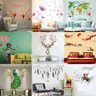 Leaves Flowers Girl Decor DIY Removable Wall Sticker Bedroom Backdrop Art Decal