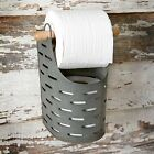 Vintage Look OLIVE BUCKET Toilet Tissue Holder Bath Primitive Country Rustic NEW