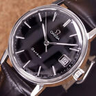 Authentic Omega Geneve Date Black Dial Stainless Steel Manual Winding Mens Watch