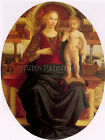PIERO POLLAIUOLO MADONNA AND CHILD ARTIST PAINTING OIL CANVAS REPRO ART DECO