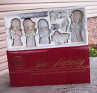 NEW 1986 LARGE PRECIOUS MOMENTS COME LET US ADORE HIM 9 PC NATIVITY JESUS MARY
