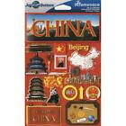 REMINISCE JET SETTERS CHINA TRAVEL VACATION DIMENSIONAL 3D SCRAPBOOK STICKERS