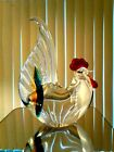 MURANO ART GLASS ROOSTER PAPERWEIGHT