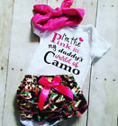 US Stock Newborn Baby Kids Girls Tops Romper Camo Tutu Shorts Outfit Set Clothes