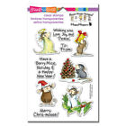 Christmas HOUSE MOUSE CLEAR Unmounted Rubber Stamp Set STAMPENDOUS SSCM5005 New