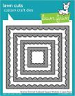Lawn Fawn Cutting Die Set REVERSE STITCHED SCALLOPED SQUARE WINDOWS LF1799