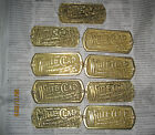 9 SOLID BRASS ICE BOX NAME PLATES FREE SHIPPING 25.99 FOR ALL 9 -ALSO FREE SHIPN