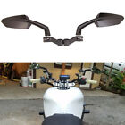 Angled Steady Motorcycle Side Mirror 8 10mm For Kawasaki Honda Street Fighter MT