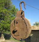 Early Primitive  FARM BARN HAY PULLEY with Forged Hook, primitive  decor