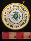 1987 High Court Campout INDEPENDENT ORDER FORESTERS IOF PATCH Illinois WI C654