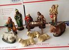 Vintage West Germany Christmas 11 Pc Nativity Paper Mache 6 1 4 1950s
