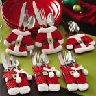 D7CE Clothes Christmas Santa Claus Kinfe Silverware Tableware Holders Decoration
