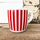 Hazel Atlas Milk Glass Red Candy Stripe Mug Milk Glass