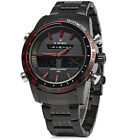 NAVIFORCE Dual Movement Men Quartz Watch Analog Digital LED Wristwatch Calendar