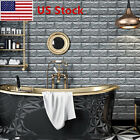 1 50pcs 3D Brick Pattern Removable Self Adhesive Wall Sticker Panels bedroom US