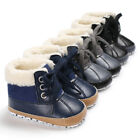USA Infant Toddler Shoes Baby Boy Ankle Snow Boots Crib Shoes Anti slip Sneakers