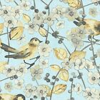 Waverly Fabric In The Air Mineral Aqua Gray Gold Cotton Drapery Upholstery