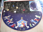 Christmas BUCILLA Felt Applique TREE SKIRT Craft KitNATIVITY82720Blue Felt43
